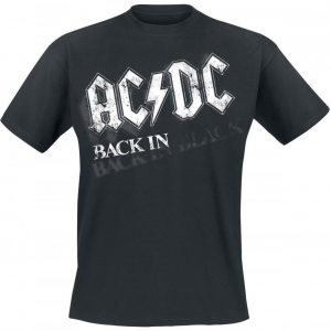 Ac/Dc Back In Black Bar Tab T-paita