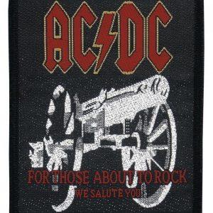 Ac/Dc For Those About To Rock Kangasmerkki 100% Polyesteria