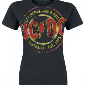 Ac/Dc High Voltage Australia Est. 1973 Vintage T-paita