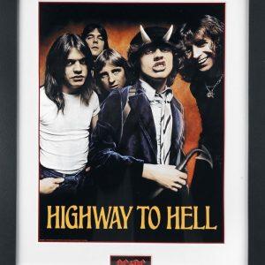 Ac/Dc Highway To Hell Kehystetty Kuva Muovia