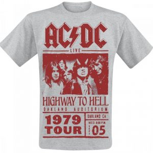 Ac/Dc Highway To Hell Red Photo 1979 Tour T-paita