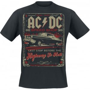 Ac/Dc Highway To Hell Speed Shop T-paita