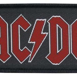 Ac/Dc Red Logo Kangasmerkki 100% Polyesteria