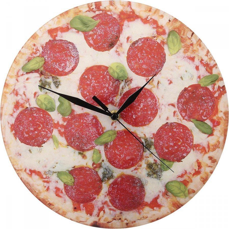 Akryylinen Seinäkello Pizza Seinäkello