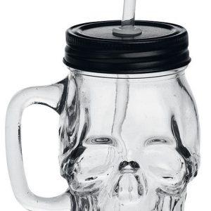 Alchemy Gothic Skull Glass Oluttuoppi