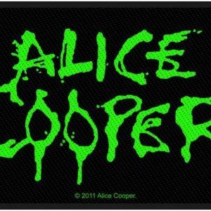 Alice Cooper Logo Kangasmerkki 100% Polyesteria
