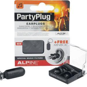 Alpine Partyplug Korvasuojain Musta