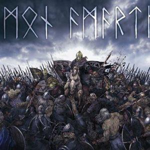 Amon Amarth Battlefield Seinälippu 100% Polyesteria