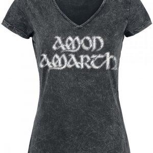Amon Amarth Logo Naisten T-paita