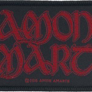 Amon Amarth Red Logo Kangasmerkki 100% Polyesteria