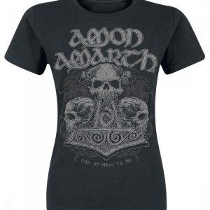 Amon Amarth Skull Hammer Naisten T-paita