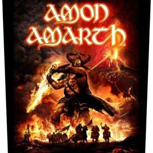 Amon Amarth Surtur Rising Selkälippu 100% Polyesteria