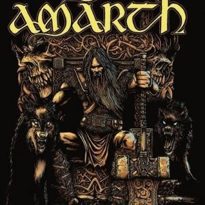 Amon Amarth Thor Seinälippu 100% Polyesteria