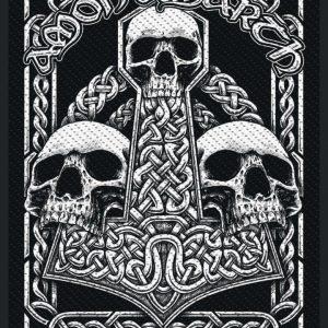 Amon Amarth Three Skulls Kangasmerkki 100% Polyesteria