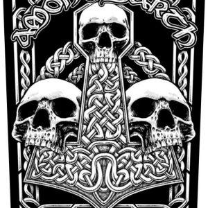 Amon Amarth Three Skulls Selkälippu 100% Polyesteria