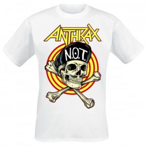 Anthrax Not Man Skull T-paita