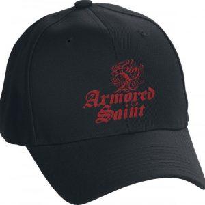 Armored Saint Logo Red Baseball-Lippis