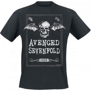 Avenged Sevenfold Face Card T-paita