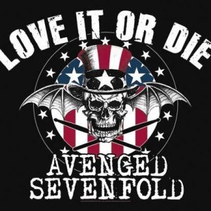 Avenged Sevenfold Love It Or Die Seinälippu 100% Polyesteria
