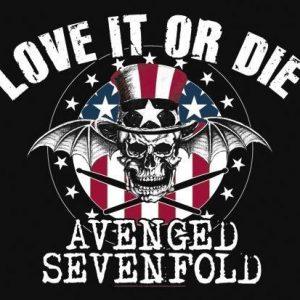 Avenged Sevenfold Love It Or Die Seinälippu 100% Polyesteria