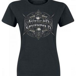 Avenged Sevenfold Ornament Bat Skull Naisten T-paita