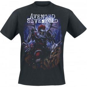 Avenged Sevenfold Santa Claws T-paita