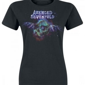 Avenged Sevenfold Space Skull T-paita