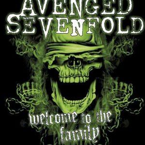 Avenged Sevenfold Welcome To The Family Seinälippu 100% Polyesteria