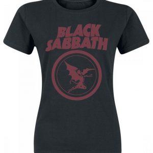 Black Sabbath Fallen Angel Logo Naisten T-paita