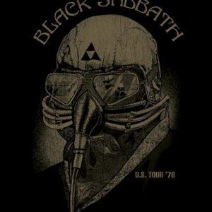 Black Sabbath U.S. Tour '78 Seinälippu 100% Polyesteria