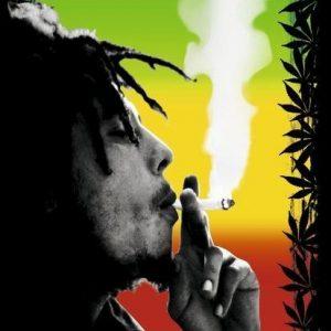 Bob Marley Herb Seinälippu 100% Polyesteria