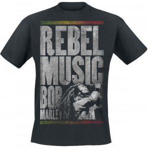 Bob Marley Rebel Music T-paita