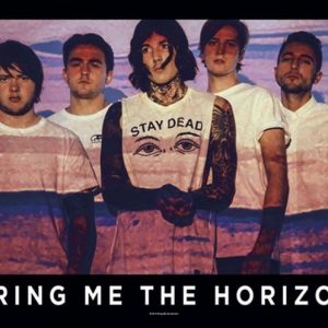 Bring Me The Horizon Press Shot Seinälippu 100% Polyesteria