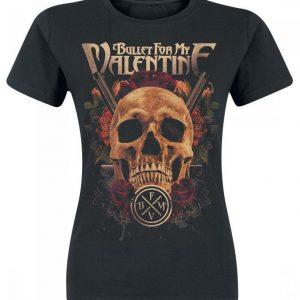 Bullet For My Valentine Pistol Skull Naisten T-paita