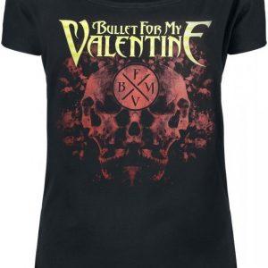 Bullet For My Valentine Rorschach Skulls T-paita