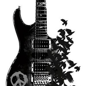 Crow Guitar Peace Sign Juliste