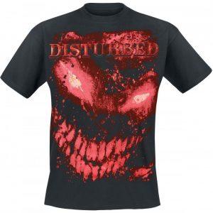 Disturbed Face Splat Glow T-paita