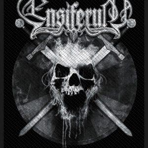 Ensiferum Skull Kangasmerkki 100% Polyesteria