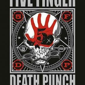 Five Finger Death Punch Punchagram Seinälippu 100% Polyesteria