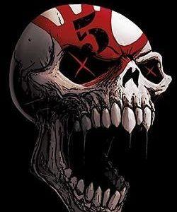 Five Finger Death Punch Speech Skull Seinälippu 100% Polyesteria
