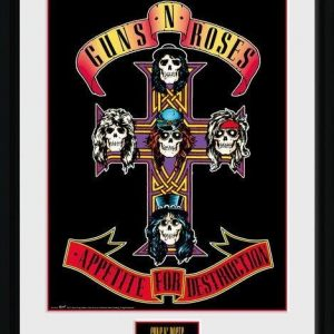 Guns N' Roses Appetite Kehystetty Kuva Monivärinen
