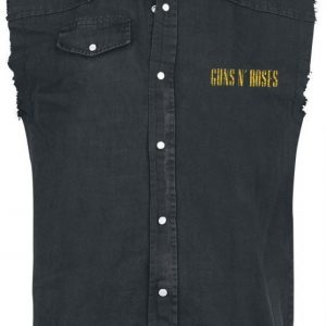 Guns N' Roses Distressed Bullet Hihaton Worker-Paita