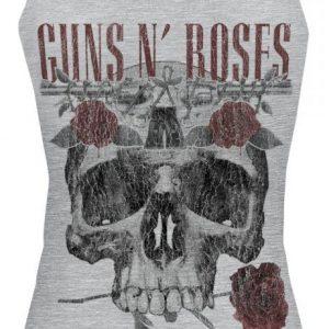 Guns N' Roses Flower Skull Naisten Toppi