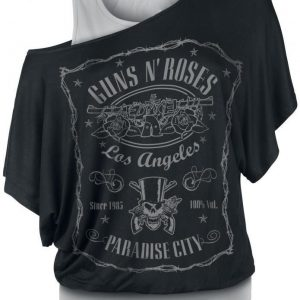 Guns N' Roses Paradise City Label T-paita