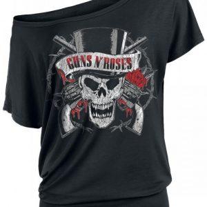 Guns N' Roses Top Hat Skull Naisten T-paita