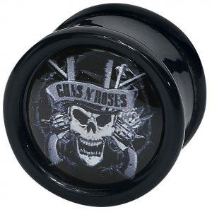 Guns N' Roses Top Hat Skull Plugi