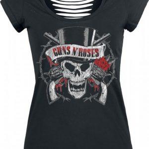 Guns N' Roses Top Hat Skull T-paita