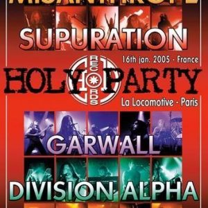 Holy Party Live / Misanthrope Supuration Garwall Division Alpha Trepalium DVD