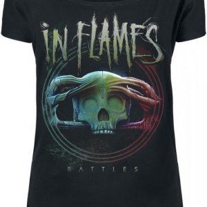 In Flames Battles Badge T-paita