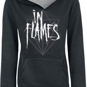 In Flames Scratch Logo Naisten Huppari